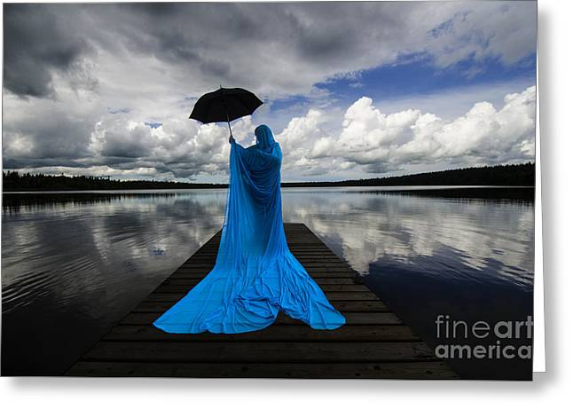 Mystic Lakes Greeting Cards - Nothing Is Ours But Time 1 Greeting Card by Bob Christopher