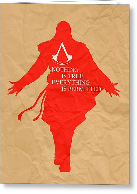 Xbox Greeting Cards - Nothing is true Assassins Creed Greeting Card by Danilo Caro