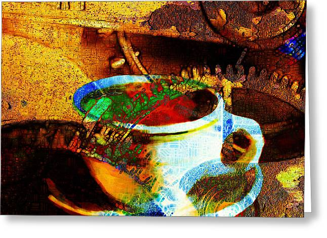 Nothing Like A Hot Cuppa Joe In The Morning To Get The Old Wheels Turning 20130718 Greeting Card by Wingsdomain Art and Photography