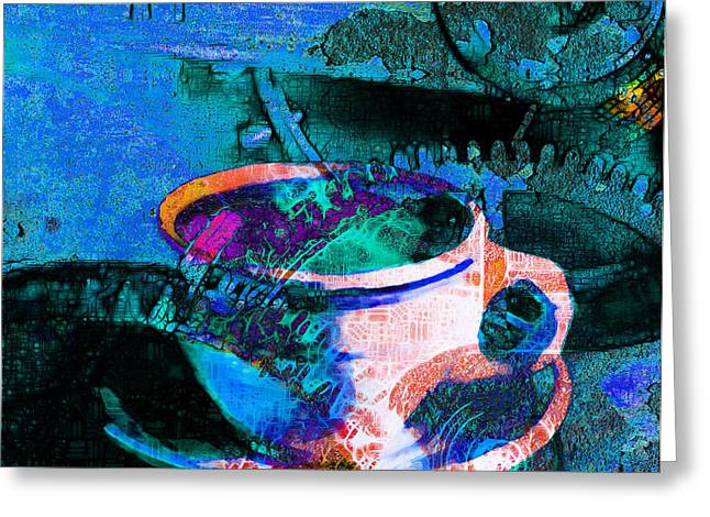 Nothing Like A Hot Cuppa Joe In The Morning To Get The Old Wheels Turning 20130718p168 Greeting Card by Wingsdomain Art and Photography
