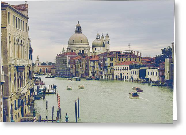 Italy Canal Greeting Cards - Nothing More Grand Greeting Card by Laurie Search