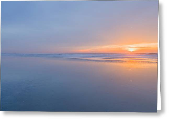 Ocean. Reflection Greeting Cards - Nothing Greeting Card by Peter Tellone