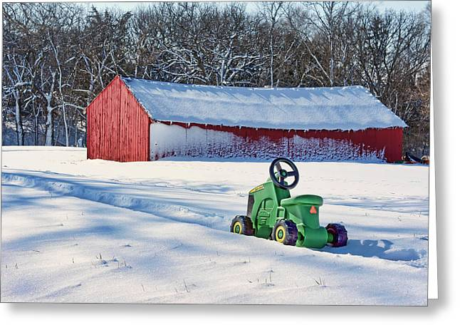 Shed Photographs Greeting Cards - Nothing Runs Like a Deere #1 Greeting Card by Nikolyn McDonald