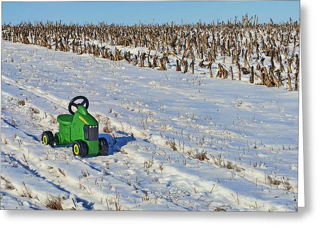 Child Toy Greeting Cards - Nothing Runs Like a Deere #3 Greeting Card by Nikolyn McDonald