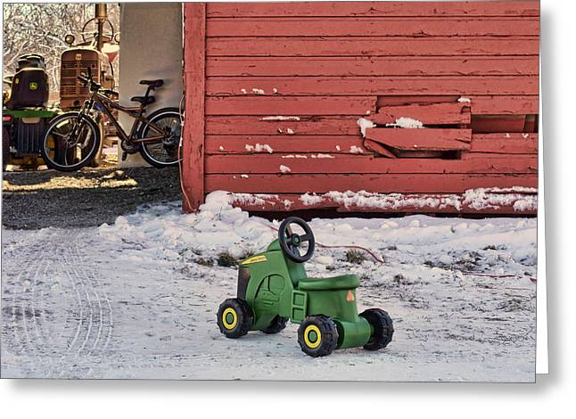 Child Toy Greeting Cards - Nothing Runs Like a Deere #4 Greeting Card by Nikolyn McDonald