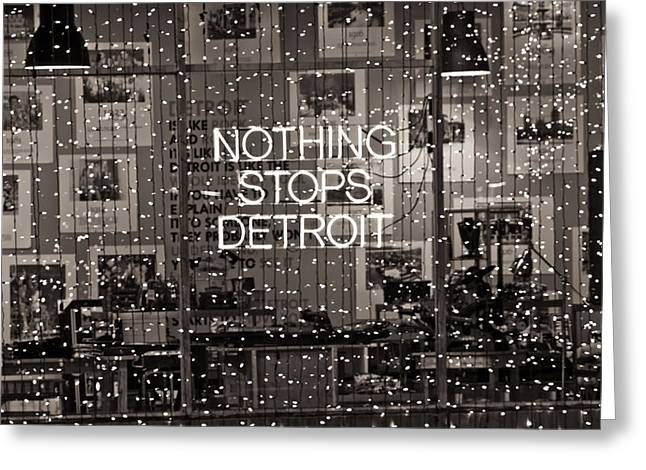 John Mcgraw Photography Greeting Cards - Nothing Stops Detroit  Greeting Card by John McGraw