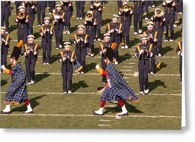 Marching Band Greeting Cards - Notre Dame Band Greeting Card by David Bearden