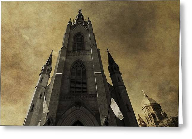 Scholarship Greeting Cards - Notre Dame Basilica Greeting Card by Dan Sproul