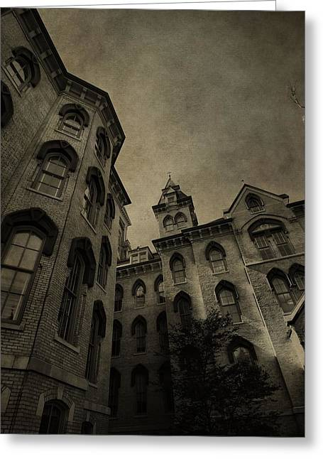 Scholarship Greeting Cards - Notre Dame Campus Architecture Greeting Card by Dan Sproul