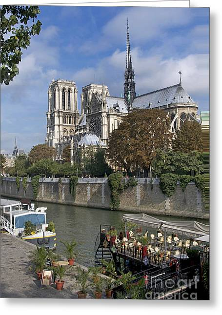 Notre Dame Cathedral Greeting Cards - Notre Dame cathedral. Paris Greeting Card by Bernard Jaubert