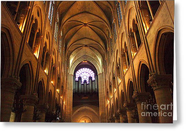 Kansas City Photographer Greeting Cards - Notre Dame Ceiling Greeting Card by Crystal Nederman