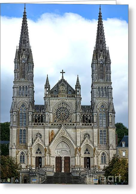 Edifices Greeting Cards - Notre Dame de Montligeon Basilica Greeting Card by Olivier Le Queinec
