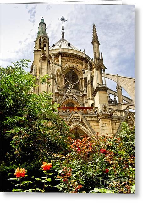 Notre Dame Greeting Cards - Notre Dame de Paris Greeting Card by Elena Elisseeva