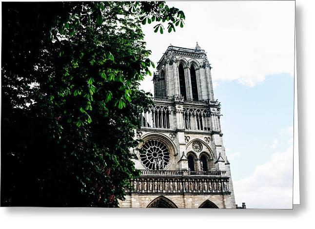 Beaujolais Greeting Cards - Notre Dame de Paris Greeting Card by Gianfranco Evangelista