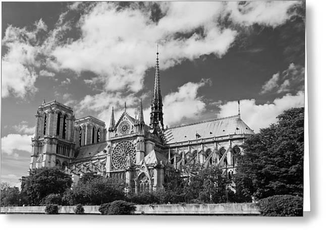 True Cross Greeting Cards - Notre Dame de Paris Greeting Card by Maj Seda
