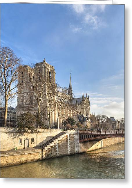 Mark Tisdale Greeting Cards - Notre Dame de Paris on a Sunny Winter Day Greeting Card by Mark Tisdale