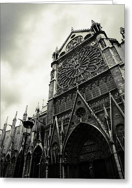 Rosette Greeting Cards - Notre Dame de Paris Greeting Card by Wojciech Zwolinski