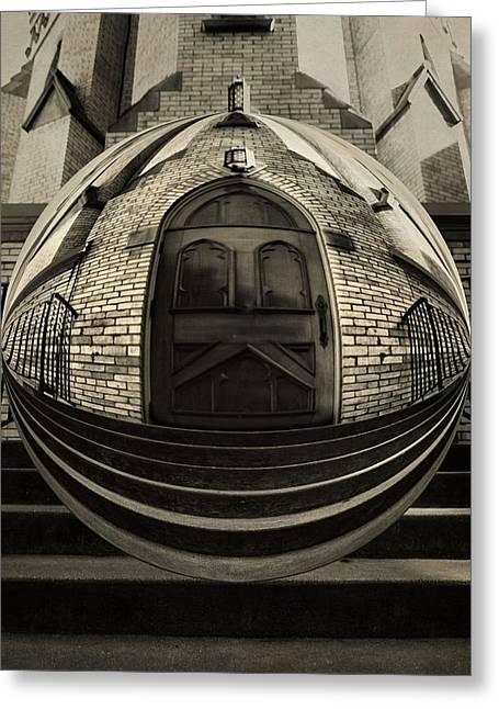 Warp Greeting Cards - Notre Dame Entrance Orb Greeting Card by Dan Sproul