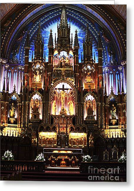 Photo Art Gallery Greeting Cards - Notre Dame Interior Greeting Card by John Rizzuto