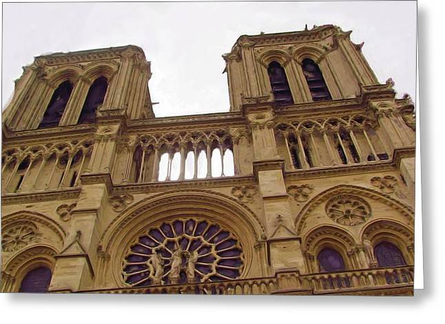 Notre Dame Greeting Card by Jenny Armitage