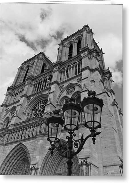 True Cross Greeting Cards - Notre Dame Greeting Card by Maj Seda