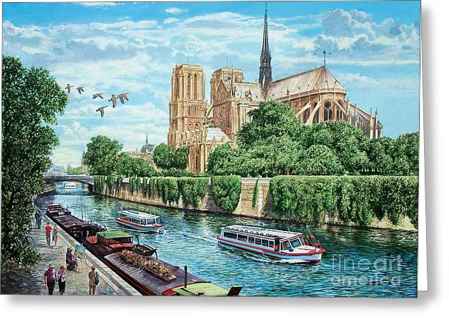 Crisp Greeting Cards - Notre Dame Greeting Card by MGL Meiklejohn Graphics Licensing