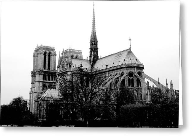 Geschichte Greeting Cards - Notre Dame Greeting Card by Rita Haeussler
