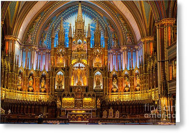 Print On Canvas Greeting Cards - Notre Dame Greeting Card by Sabine Edrissi