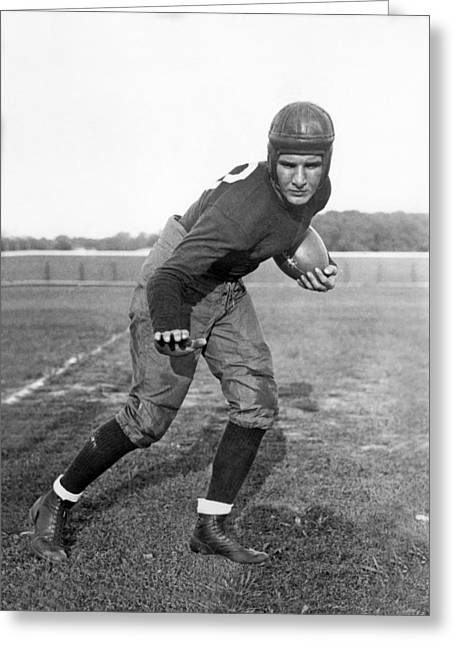 Notre Dame Star Halfback Greeting Card by Underwood Archives