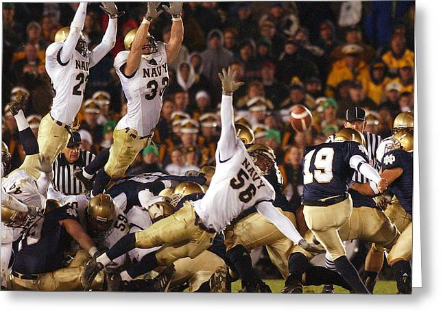 Notre Dame Football Greeting Cards - Notre Dame versus Navy Greeting Card by Mountain Dreams