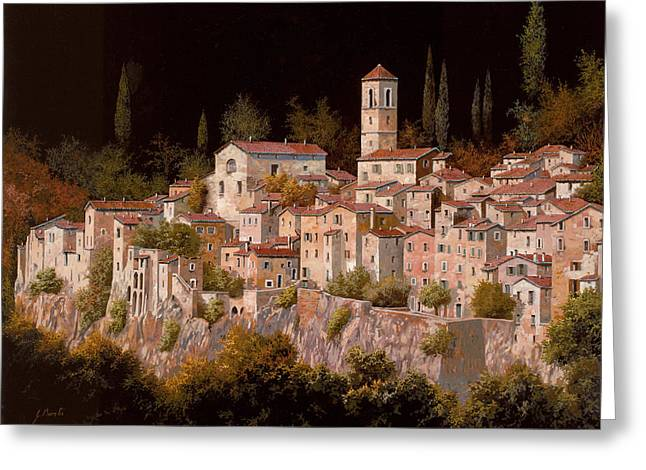 Moon Light Greeting Cards - Notte Senza Luna Greeting Card by Guido Borelli