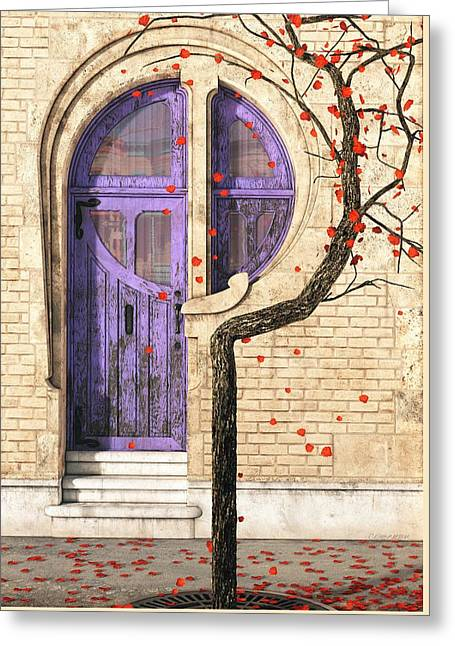 Doorway Digital Greeting Cards - Nouveau Greeting Card by Cynthia Decker