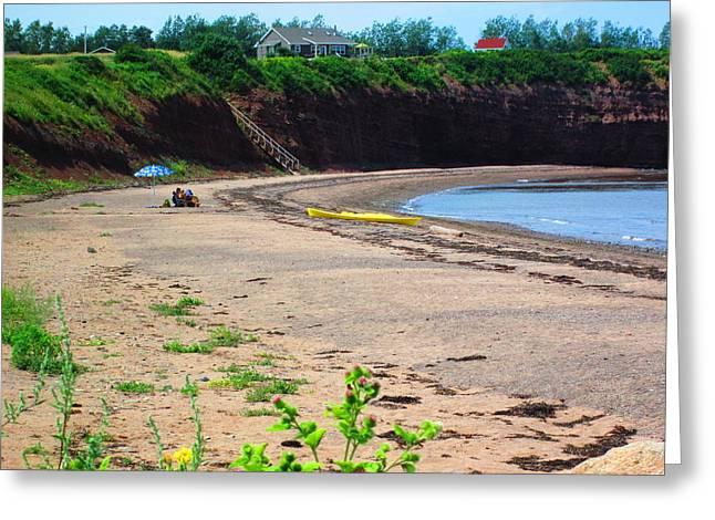 Nova Scotia Photographers Greeting Cards - Nova Scotia Beach Greeting Card by Larry Matthews