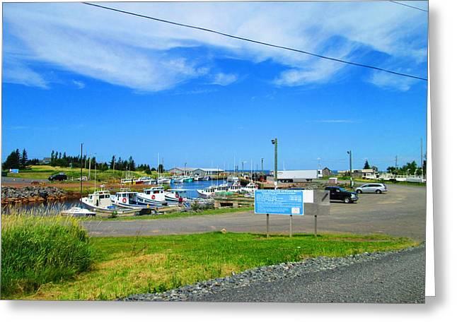 Nova Scotia Photographers Greeting Cards - Nova Scotia Harbour Greeting Card by Larry Matthews