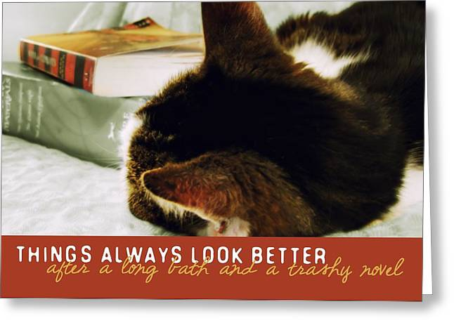 Novel Nap Quote Greeting Card by JAMART Photography