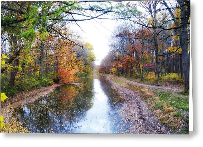 Pa Digital Art Greeting Cards - November Along the Delaware Canal Greeting Card by Bill Cannon