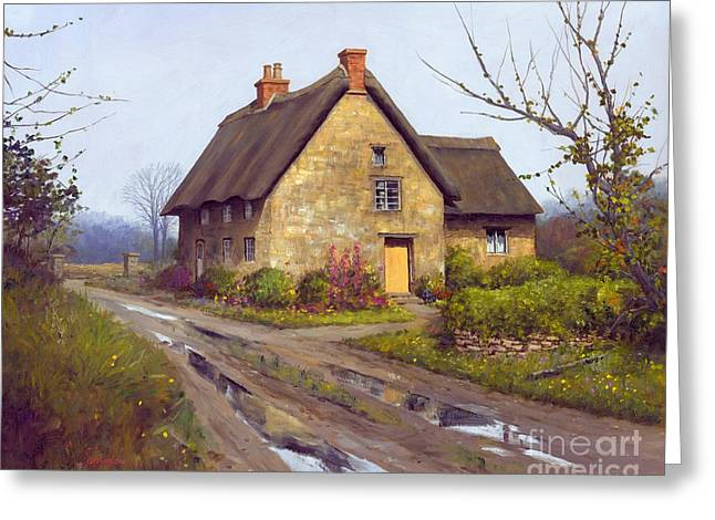 Overcast Day Greeting Cards - November Cottage 24 x 30 - SOLD Greeting Card by Michael Swanson