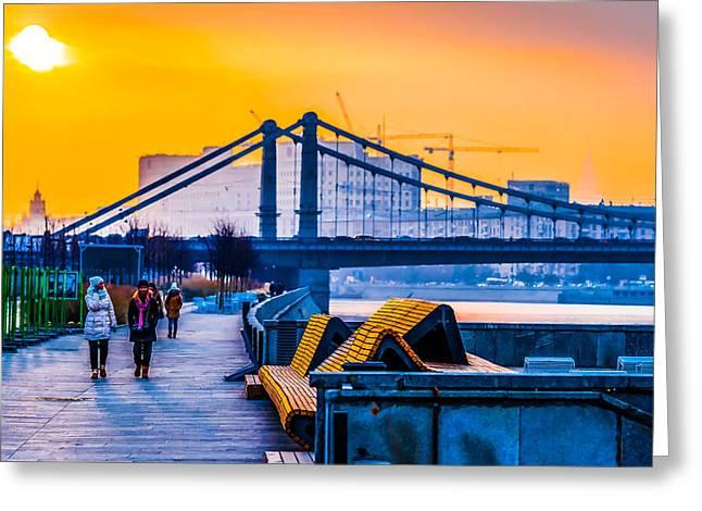 Illustrative Photographs Greeting Cards - November Evening Greeting Card by Alexander Senin
