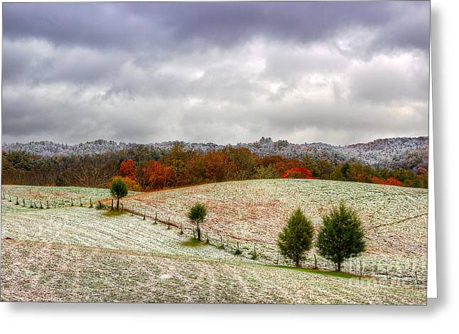 Smoky Greeting Cards - November In The Smokies Greeting Card by Michael Eingle