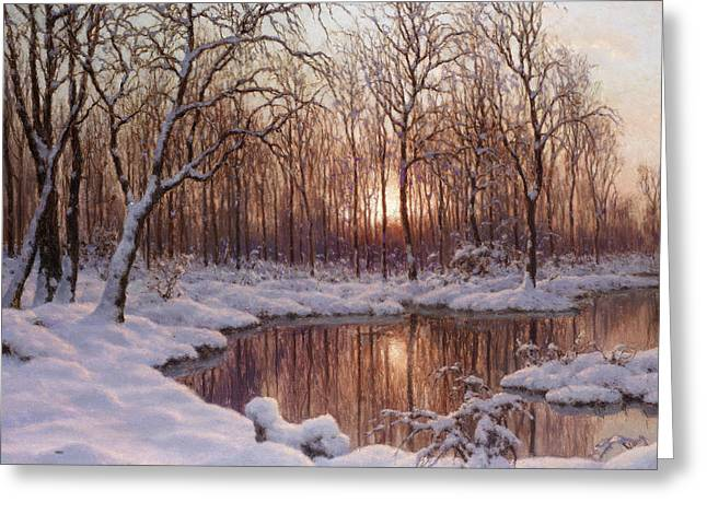 Ivan Greeting Cards - November Greeting Card by Ivan Fedorovich Choultse