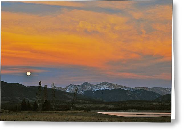 Bob Berwyn Greeting Cards - November Moonrise Greeting Card by Bob Berwyn