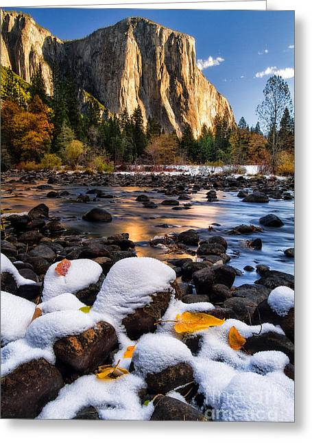 Snow Capped Photographs Greeting Cards - November Morning Greeting Card by Anthony Bonafede