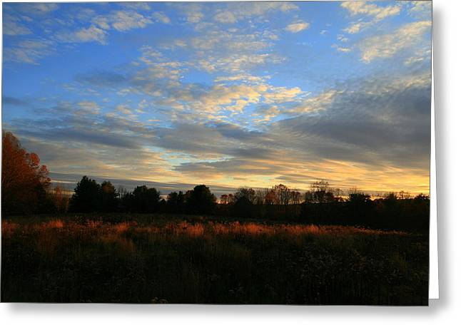Landscape Photography Greeting Cards - November Skies  Greeting Card by Neal  Eslinger