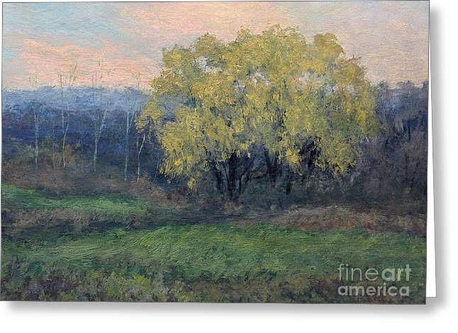 Gregory Arnett Paintings Greeting Cards - November Willow Greeting Card by Gregory Arnett