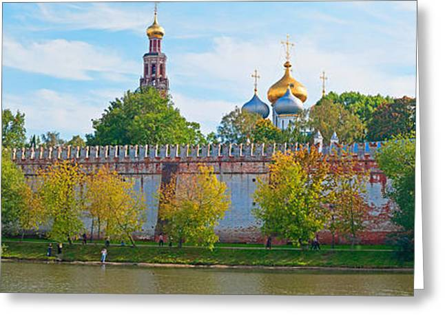 Russian Orthodox Greeting Cards - Novodevichy Convent And Cathedral Of Greeting Card by Panoramic Images