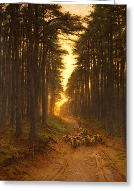 Shepherds Greeting Cards - Now Came Still Evening On, C.1905 Greeting Card by Joseph Farquharson