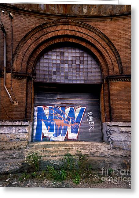 Run Down Greeting Cards - Now Graffiti Greeting Card by Amy Cicconi