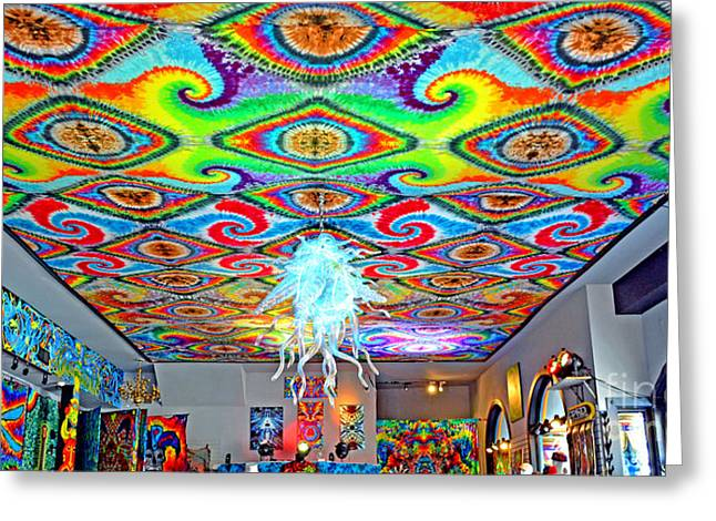 Long Street Greeting Cards - Now thats a Ceiling Greeting Card by Jim Fitzpatrick