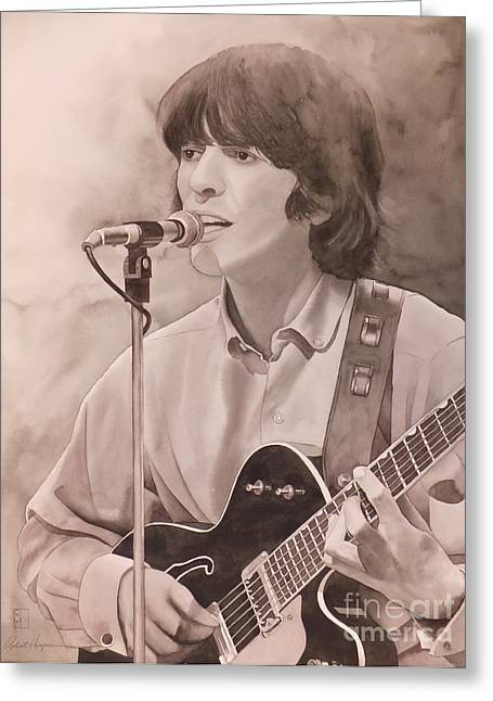 Beatles Paintings Greeting Cards - Nowhere Man Greeting Card by Robert Hooper