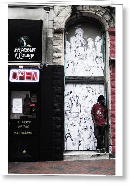 City Art Greeting Cards - Nowhere to be Greeting Card by Daniel Macas